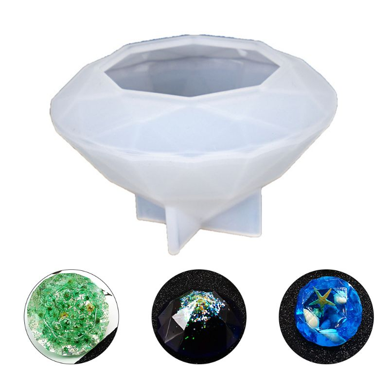 8 X 5.5 Cm DIY Crystal Epoxy Mold Oversized Diamond Molds UV Resin Necklace Pendant Mould