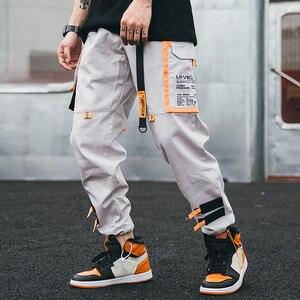 Image 2 - Hip Hip Cargo Pants Streetwear Men Harajuku Harem Pants Joggers 2019 Casual Tatical Pants Ribbon Multi Pockets Track Trousers