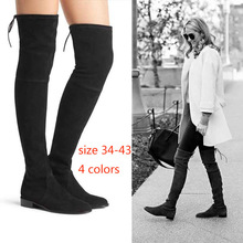 women winter boots stretch fabric fashion high heels women s boots elegant over the knee long boots winter boots Women Boots Thick high Heels Long Winter Boots Women Shoes Over The Knee Boots Round Toe Stretch Fabric Boots