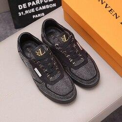 العلامة التجارية الفرنسية vvl2020 الاتجاه أحذية رجالي الأصلي واحدة عالية الجودة والجلود المستوردة من إيطاليا تصنيع الفاخرة القياسية