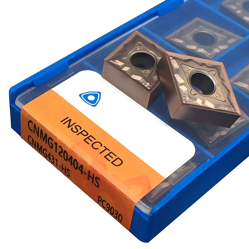 CNMG120404 CNMG120408 HS PC9030 Carbide Inserts External Turning Tool CNC Lathe Cutter Tool <font><b>CNMG</b></font> <font><b>120404</b></font> 08 For MCLNR Tool Holder image
