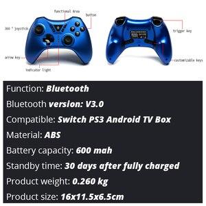 Image 5 - Contrôleur de jeu de grenouille de données pour la manette sans fil de Bluetooth de commutateur de Nintendo pour la manette de double vibration de commutateur de nintention pour le PC/PS3