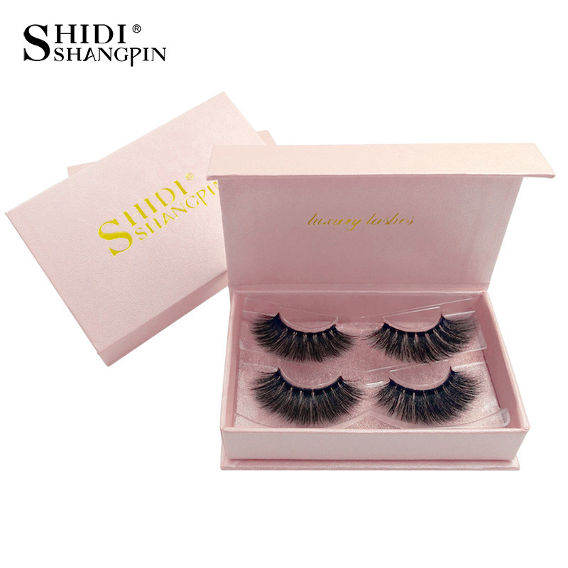 <font><b>2</b></font> <font><b>Pairs</b></font> <font><b>Eyelashes</b></font> Makeup3D Mink <font><b>Eyelashes</b></font> NaturalHair long Lashes Volume Mink Lashes dramatic FalseEyelashes image
