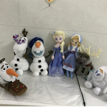 Снежные Младенцы Анна Эльза Кристофер плюшевые игрушки в виде Олафа для детских подарков на день рождения