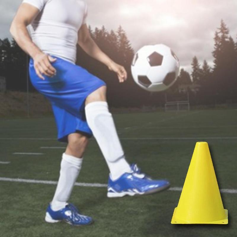 6 Pcs 18cm Soccer Trainning Cone Stadium Marking Soccer Training Marker Slalom Skate Pile Cup Football Training Equipment