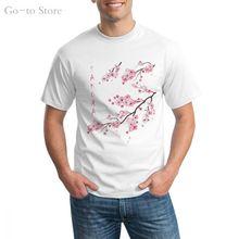 Винтажная японская футболка с изображением сакуры цветущей вишни