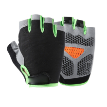 Весна Лето Half Finger Спорт на открытом воздухе езда Мужчины Женщины Фитнес Нескользящие без пальцев дышащие защитные перчатки автомобильные перчатки для фитнеса