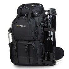 NOVAGEAR 80302 fotoğraf çantası kamera sırt çantası evrensel büyük kapasiteli seyahat kamera sırt çantası için Canon/Nikon dijital kamera