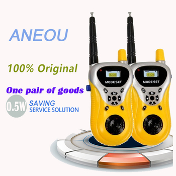 2Pcs Mini Walkie Talkie Professional Hot Sale Yellow/Green Color Handheld Intercom Electronic Interphone Two Way Radio Portable