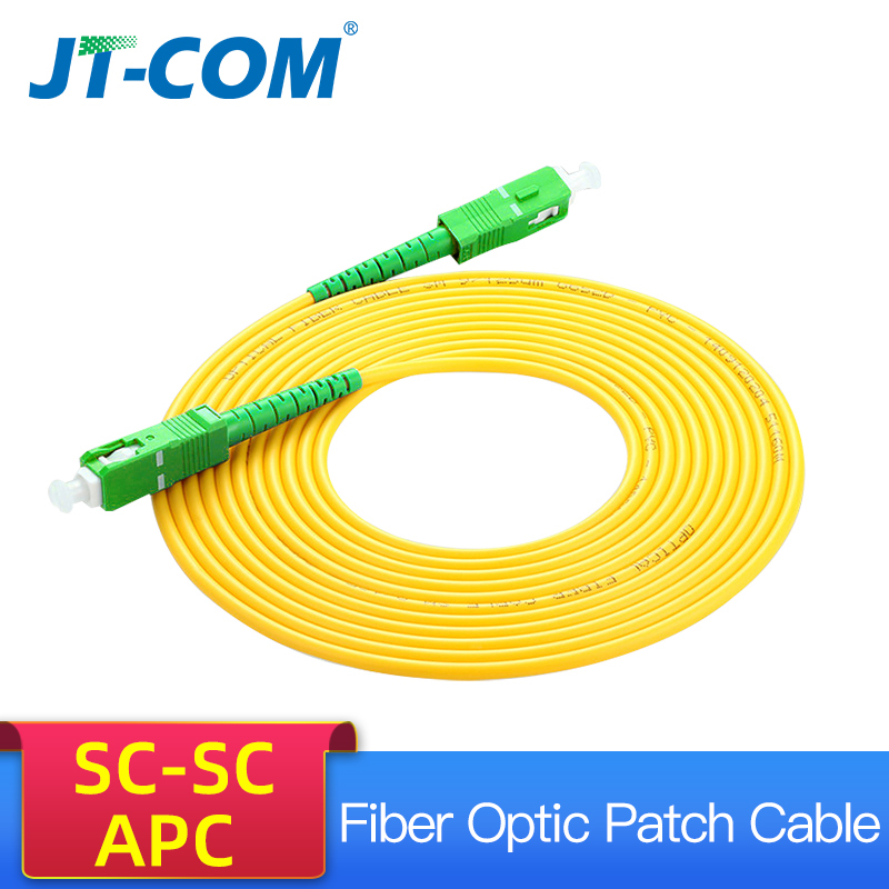 10pcs SC/APC Fiber Optic Patch Cord Cable SM SC-SC 3.0mm 3M Jumper Single Mode Simplex 3mm Optical Fibra Optica FTTH 9/125um PVC