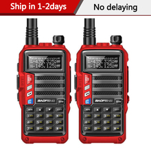 2 sztuk BaoFeng UV S9 potężny Radio Walkie Talkie Transceiver 8W 10km daleki zasięg przenośny zestaw radiowy na polowanie las & city