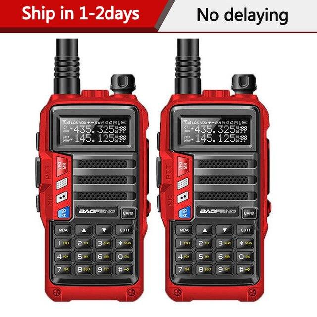 """2PCS BaoFeng UV S9 עוצמה ווקי טוקי רדיו משדר 8W 10 ק""""מ ארוך טווח נייד רדיו סט להאנט יער & עיר"""