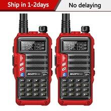 Walkie talkie poderoso baofeng UV S9, 2 peças, rádio portátil, transmissor de longo alcance, 8w/10km, para caça floresta e cidade