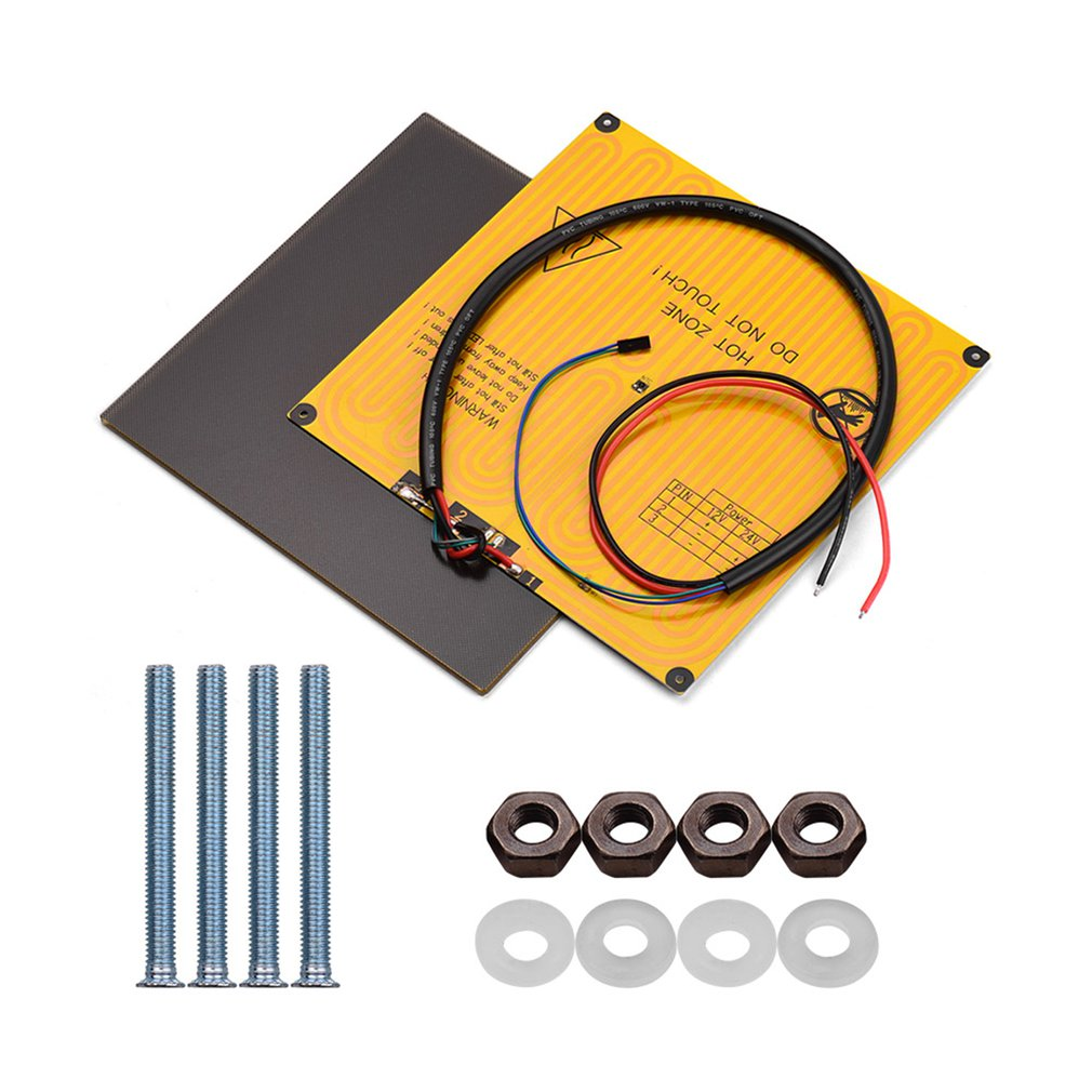 240x220x5.5mm Ultrabase Platform With Heated Bed For 3D Printer Special Glass Microporous Coatings Parts