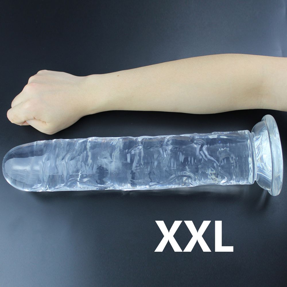 Realistic Dildo With Super Strong Suction Cup Erotic Jelly Dildo