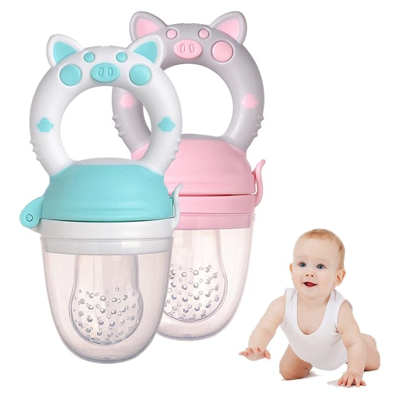 Silicone Fresh Food Nibbler Baby Feeder Kids Boy Girl Fruit Nipples Feeding Safe Infant Baby Supplies Nipple Soother Bottles