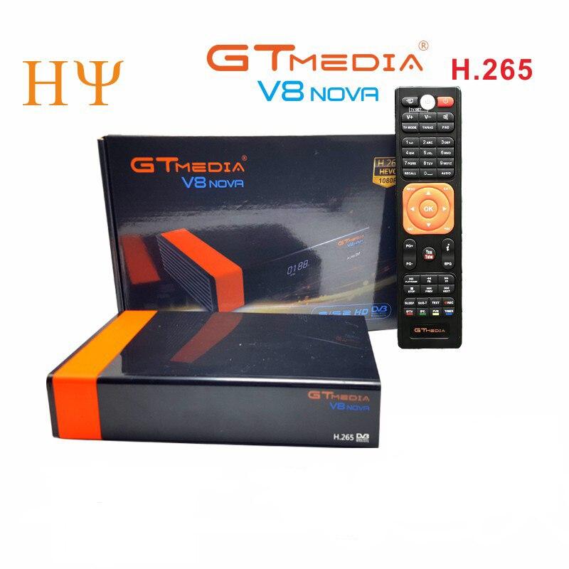 3PCS/Lot Gtmedia V8 NOVA DVB S2 satellite receiver Built in wifi support H.265 freesat V8 super set top box power vu-in Satellite TV Receiver from Consumer Electronics    1