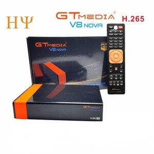 Image 1 - 3PCS/Lot Gtmedia V8 NOVA DVB S2 satellite receiver Built in wifi support H.265 freesat V8 super set top box power vu