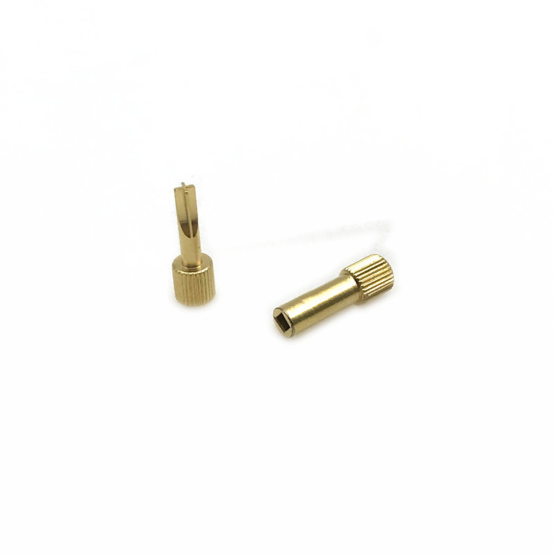 1pc Dental Screw Post Key Dental Material Dental Gold Plated Tapered Conical Screw Post Key