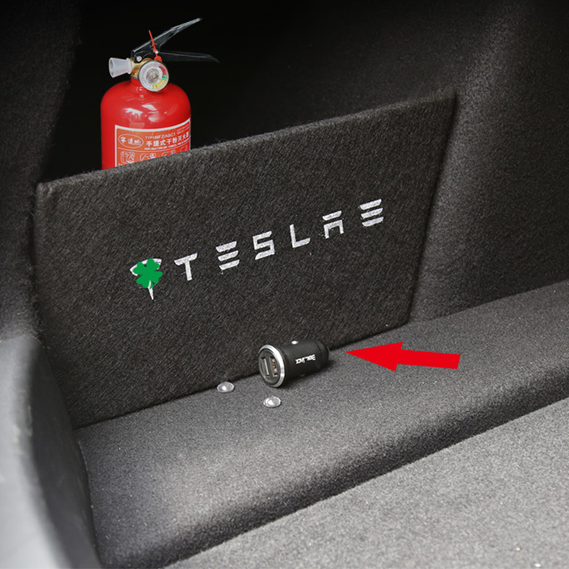 A Little Change Storage Partitions On Both Sides Of The Trunk Partition Tail Box For Tesla Model 3 Car Accessories