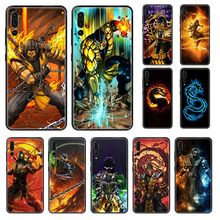 mortal kombat American Anime Games cell cover black Phone case For Huawei P 8 10 20 30 Smart Plus 2019 Z Lite Pro 2017 2019(China)