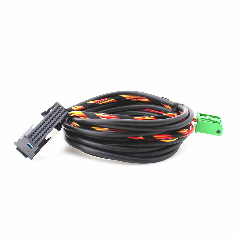 Hongge 9W2 9W7 Bluetooth Plug Rangkaian Kabel untuk Passat B6 Golf MK5 6 POLO RCD510 RNS510 1K8 035 730D
