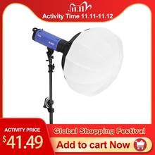 Selens 50/65/80 cm dobrável esfera softbox lanterna de papel bola forma globo difusor com bowens montagem para estúdio flash strobe