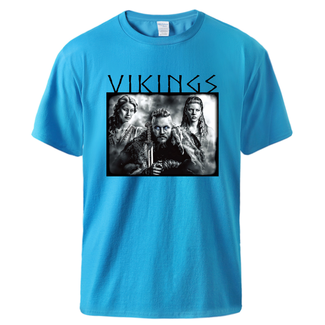 Odin Vikings Tshirts for Man Historical Action Movie T shirt Summer Short Sleeve Cotton Streetwear 2020 Man Brand Casual Tshirt image
