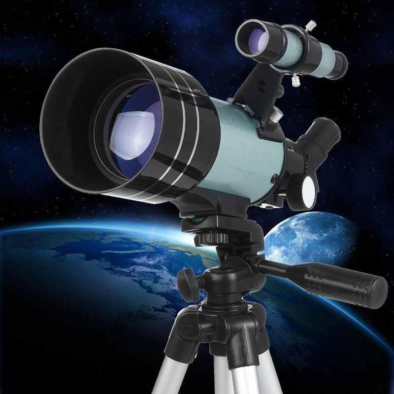 Télescope astronomique professionnel de l'espace de réfraction 150X extérieur de zoom de HD avec l'observation de lune de trépied pour des cadeaux d'adultes d'enfants