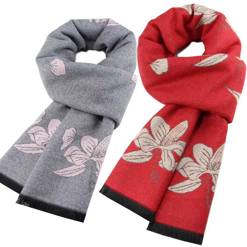 New Spring Winter Triangle Scarf For Women Print Flower Warm Cashmere Scarves Female Shawls Pashmina Lady Bandana Wraps Blanket