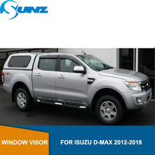 Car door visor For ISUZU D-MAX 2012-2018 window rain protector  Isuzu D-max 2012 2013 2014 2015 2016 2017 2018 SUNZ