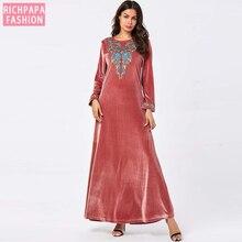 Кафтан Марокко Турция Исламская мусульманская абайя платье длинный хиджаб арабские платья Tesettur Elbise Robe Musulmane Longue Caftan Vestidos