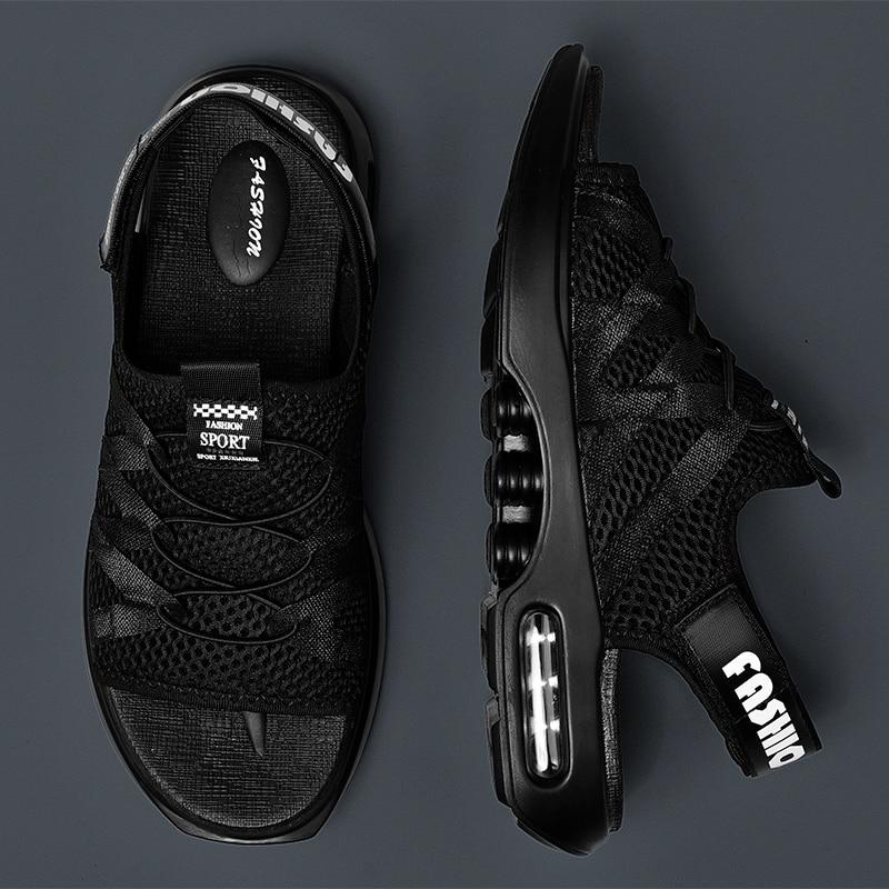 Mesh Sandals Closed Toe For Men Fashion Designer Mens Hole Non Slip Shoes Lightweight Vietnam Summer Beach Breathable Platform