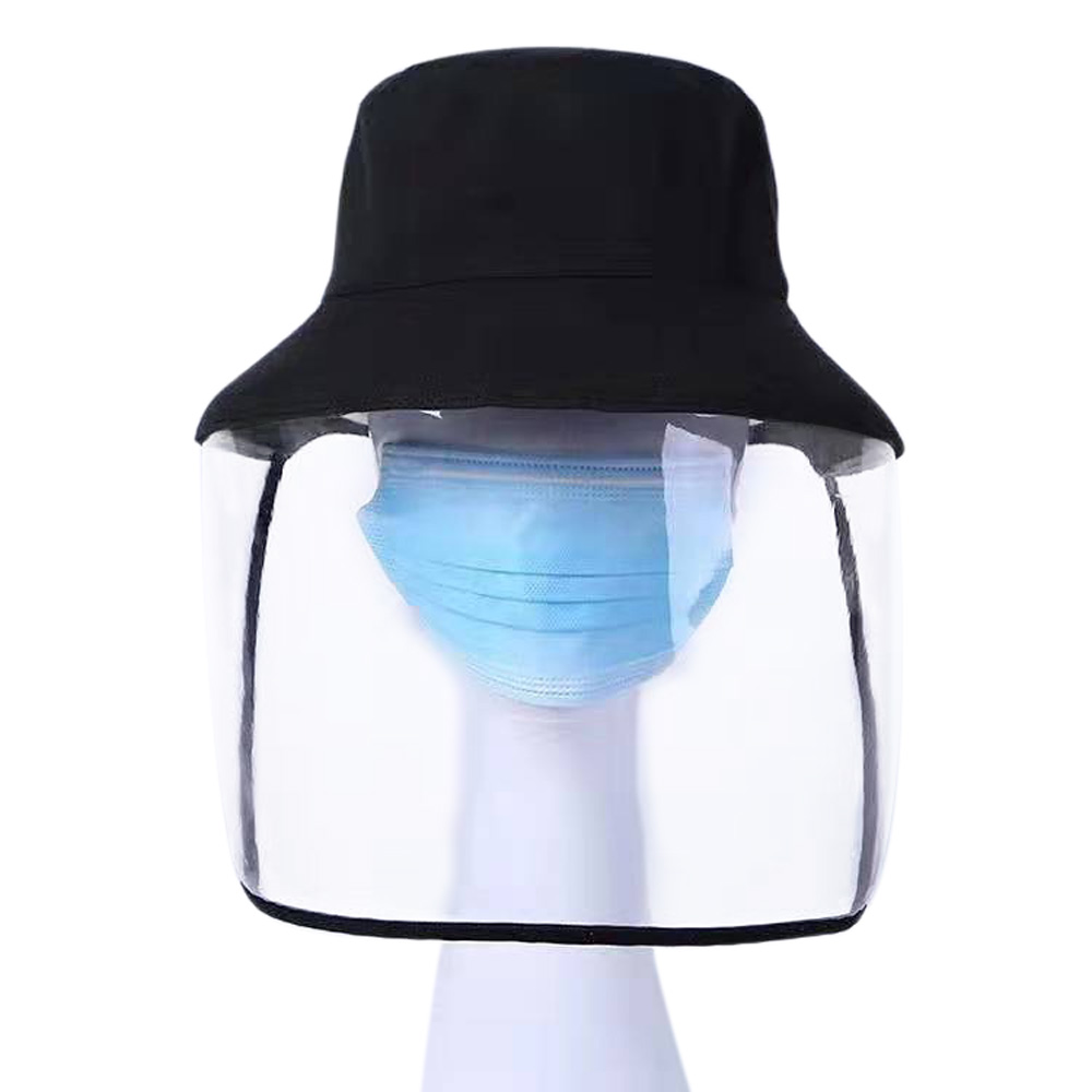 1pc/20pcs Clear Face Cover and Transparent Fisherman Hat to Block the Droplets and Prevent Infection 1
