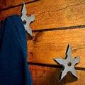 Крючки для одежды из нержавеющей стали в форме звезды ниндзя  креативные настенные крючки для двери  вешалка для одежды  шляп  украшения для ...