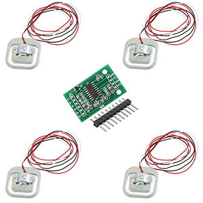 4 шт. 50кг человеческая шкала, датчик сопротивления нагрузке тела, тензодатчик + модуль HX711, датчик давления s, измерительный датчик нагрузки|Датчики|   | АлиЭкспресс