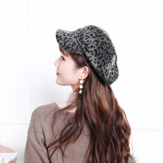 Nueva gorra de leopardo de moda para Mujer