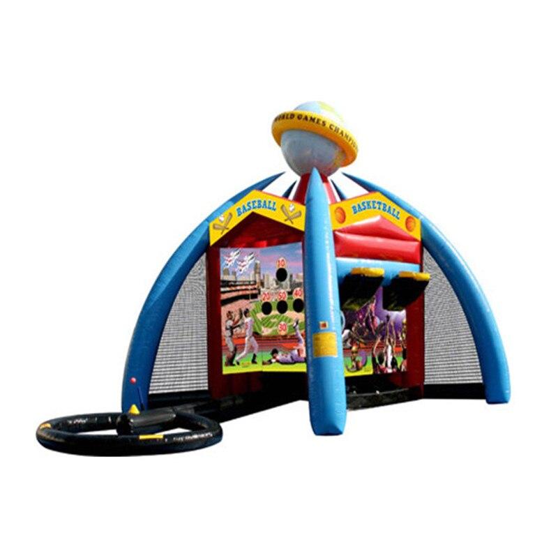 2019 Inflatable Interactive Base Ball Football Dart-frisbee Basketball Soccer Goal Arena World Junior Multi Team Sport Games
