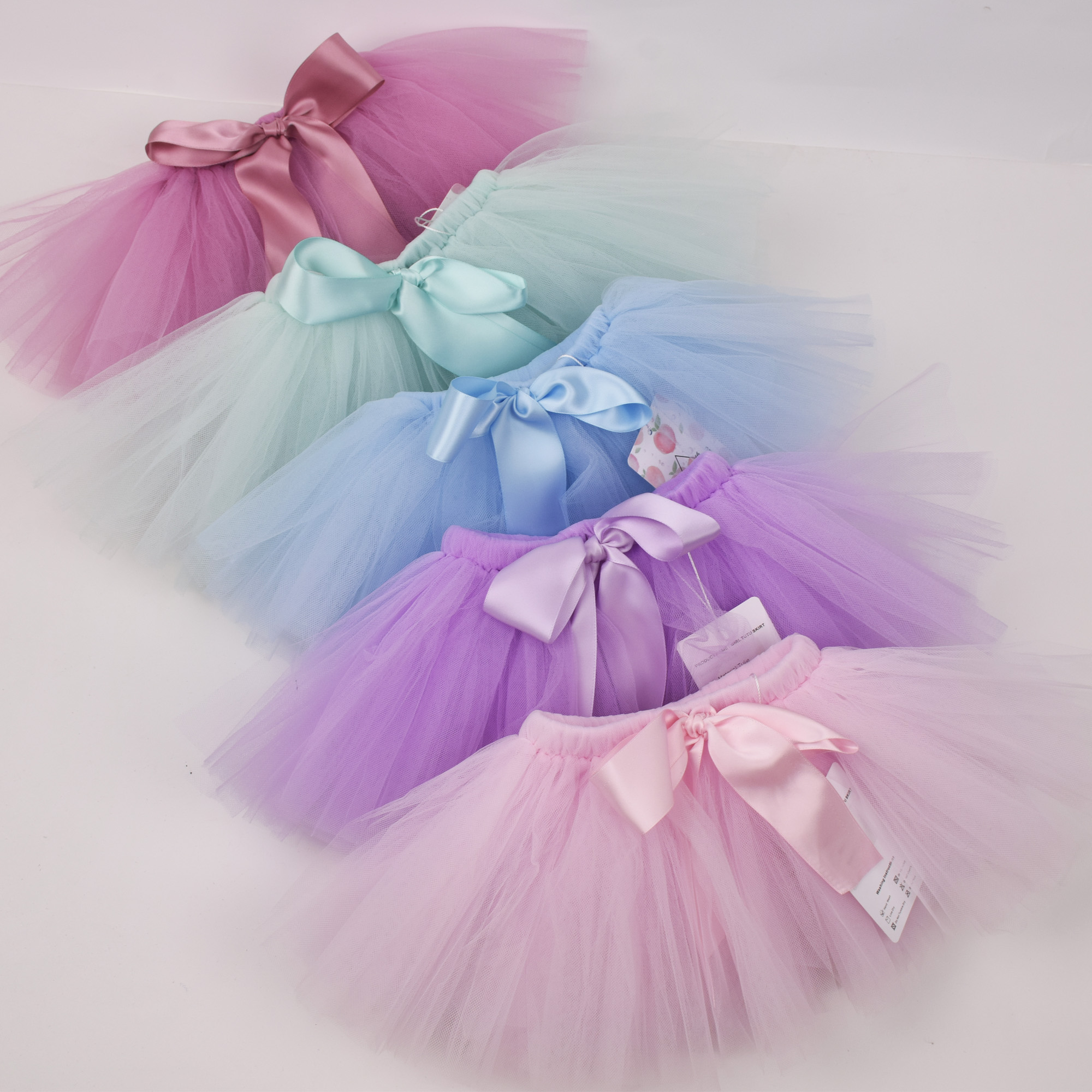 6-Layer Fluffy Tulle Skirt with Built-in Shorts 0-7T Newborn Baby Girl Tutu Headband Set Toddler 4