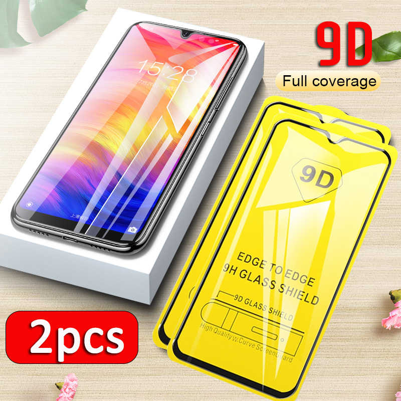 2pcs 9D Glass For Xiaomi Redmi Note 7 Tempered Glass For Redmi Note 7 Pro Screen Protector xiomi red mi Note7 Protective Film