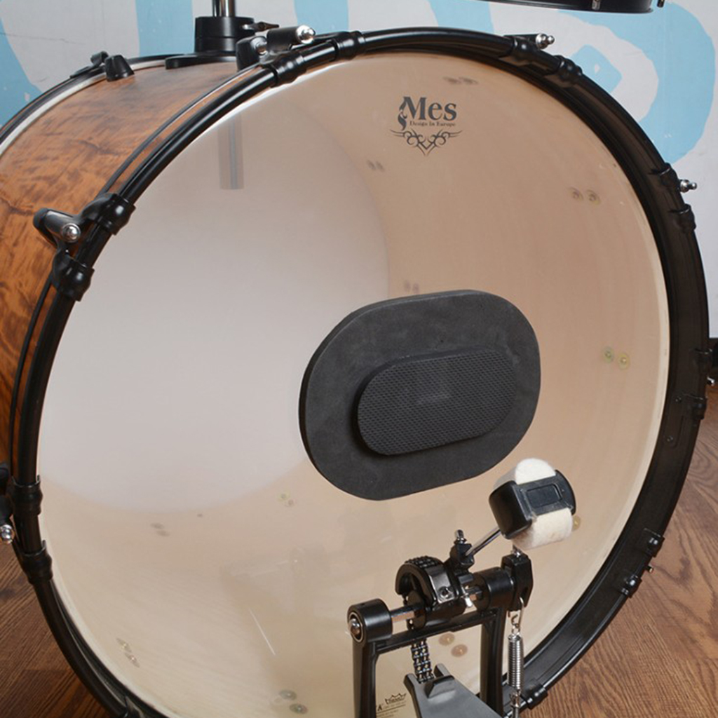 Mudas da Espuma do Tambor Instrumento de Percussão Almofadas Cimbal Unidades Capas Silenciosas Preto & 8