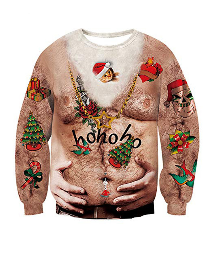 2019 Unisex Ugly Christmas Sweater For Men Women 3D Funny Print Pullover Hoodies Sweatshirts Autumn Winter Sweaters Jumpers Tops