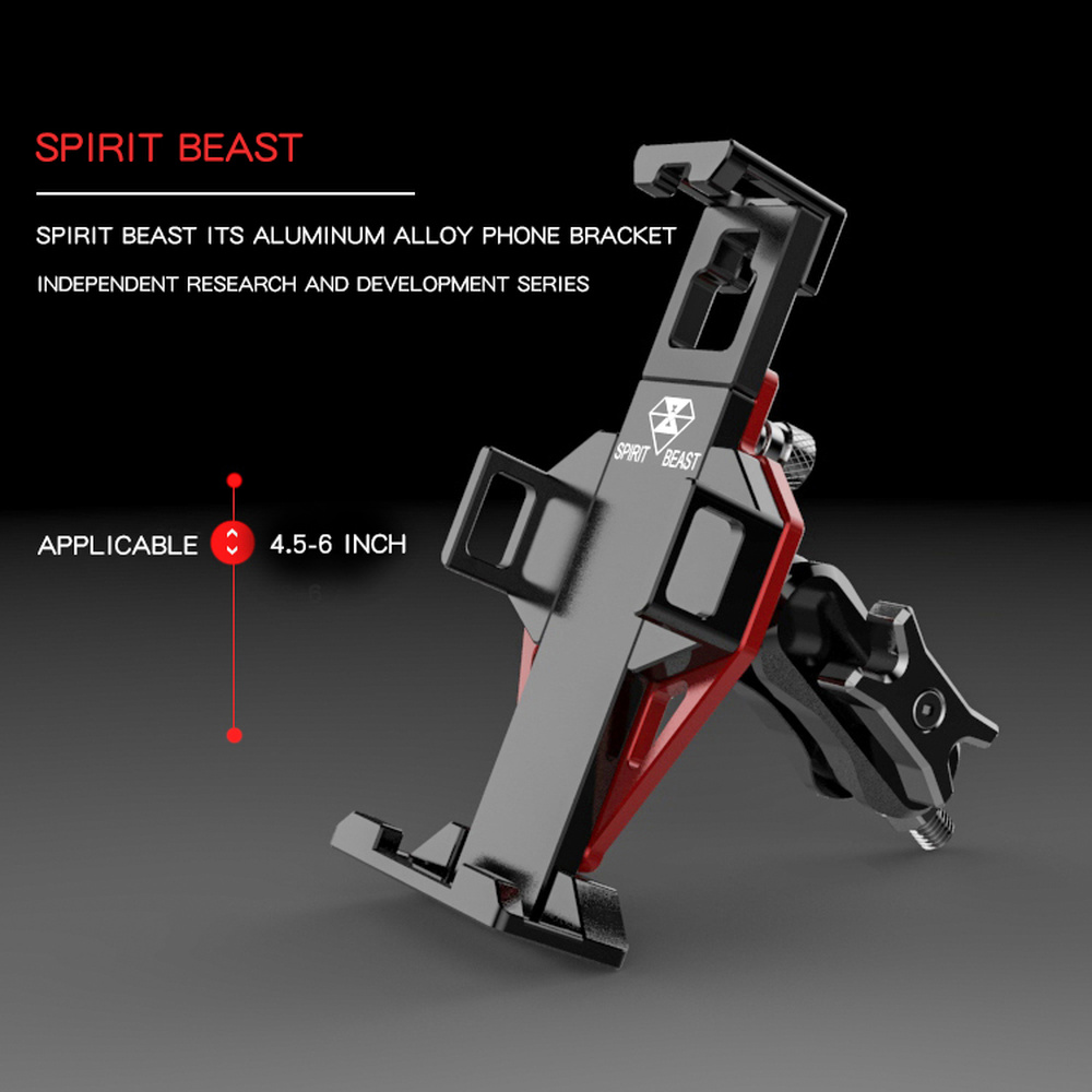 SPIRIT BEAST Motorcycle Phone Holder Bracket Frame Carrier Steady Foothold Car Stand Mount Trip GPS Navigation Support Telephone image