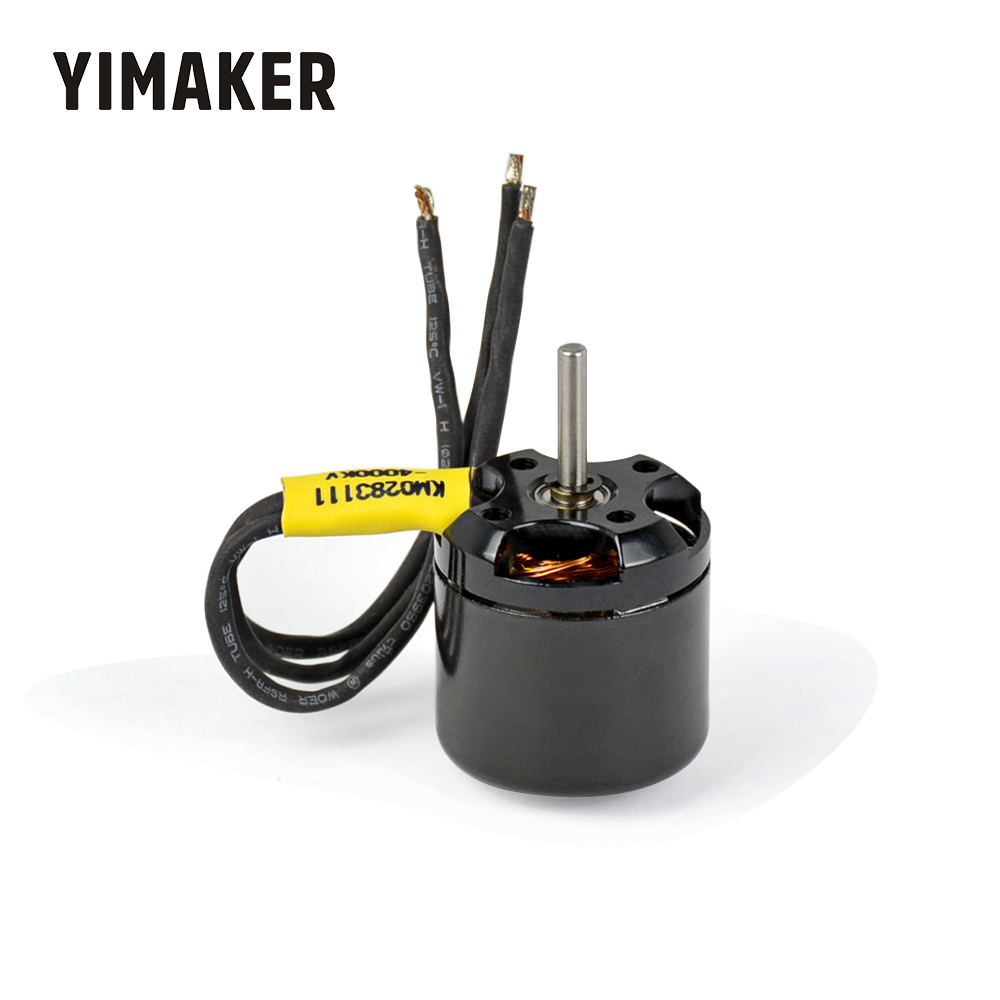 YIMAKER 2.4A Small Brushless Motor 2830 KV4000 Three-phase micro Motor For RC Airplane Remote Model 42000RMP DIY image