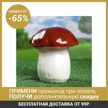"""Garden figure """"Mushroom butter-dish"""" gloss, ceramics home garden"""