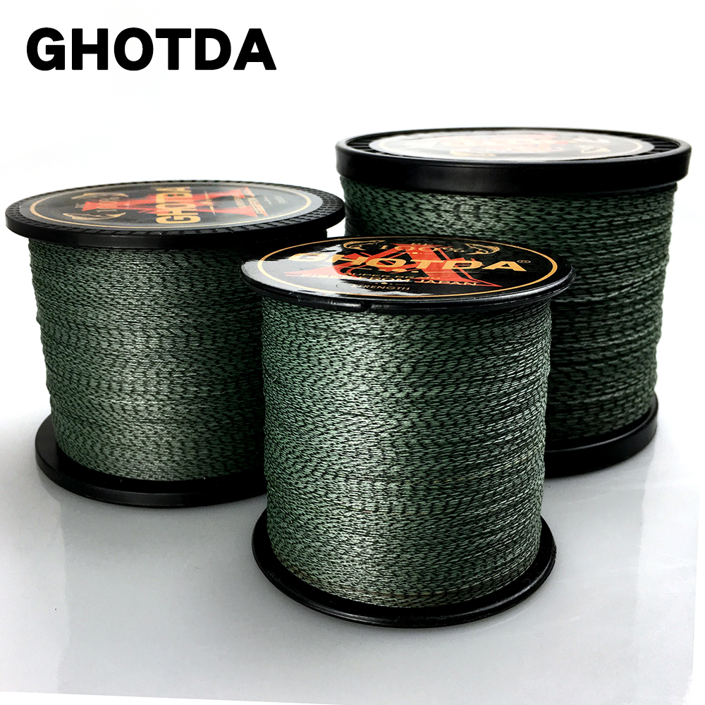 GHOTDA Camouflage 8 Strands 1000M 500M 300M PE Braided Fishing Line Japan Multicolour Saltwater Fishing Weave Superior Extreme
