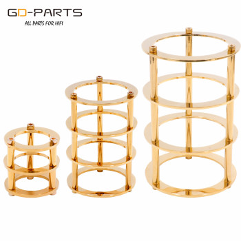 GD-PARTS 1PC Chrome/Gold Plated Brass Vacuum Tube Guard Protector for EL34 300B 12AX7 6V6 6L6 Hifi Vintage AUDIO Amplifier DIY image