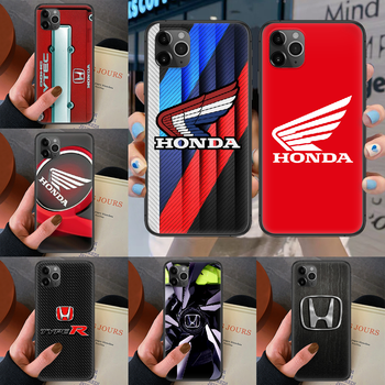 JDM Honda logo Phone case For iphone 4 4s 5 5S SE 5C 6 6S 7 8 plus X XS XR 11 12 mini Pro Max 2020 black hoesjes painting Etui image
