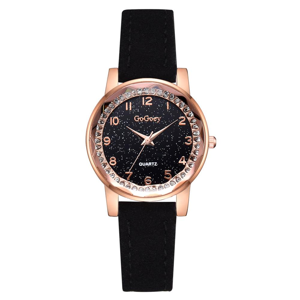 Exquisite Diamond Starry Sky Women Watches 2019 Fashion Brand Luxury Ladies Wristwatch Scrub Vintage Leather Woman Quartz Clock