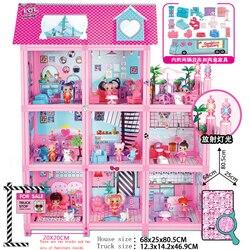 لول مفاجأة البيت الأصلي مع 85 + مفاجآت! هدية الكريسماس للأطفال تلعب لعبة منزل لفتاة